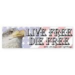 Live Free Die Free Patriotic Bumper Sticker