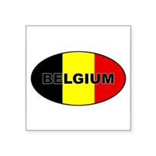 Belgium-flag-oval Sticker