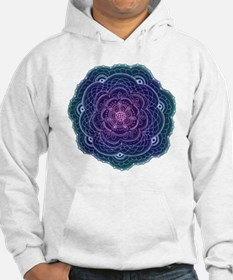 Purple and Blue Lace Flower Hoodie