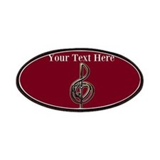 Red Music Heart Treble Clef Patches