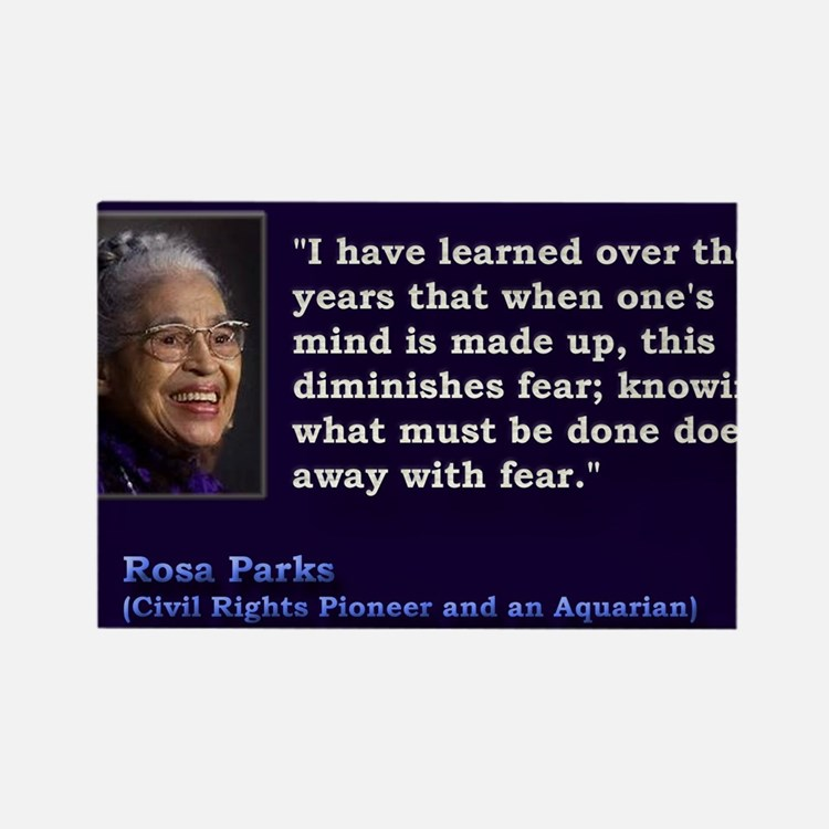 Rosa Parks Quote ~ Magnets