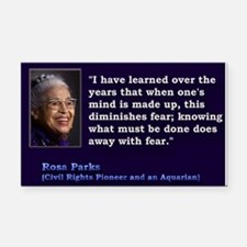 Rosa Parks Quote ~ Rectangle Car Magnet