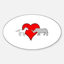 Unicorn Loves Rhino Decal