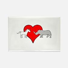Unicorn Loves Rhino Magnets