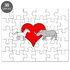 Unicorn Loves Rhino Puzzle