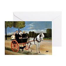 Henri Rousseau - Old Junior's Cart Greeting Card