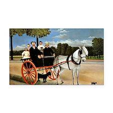 Henri Rousseau - Old Junior's Rectangle Car Magnet