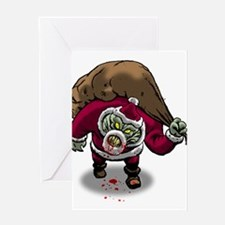Horror Zombie Santa Claus Greeting Cards