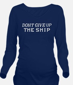 Commodore Perry Flag Long Sleeve Maternity T-Shirt