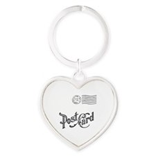 Post Card Times Heart Keychain