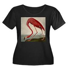 Exquisite Vintage Flamingo illustration Plus Size