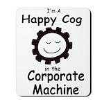 Happy Corporate Cog Mousepad