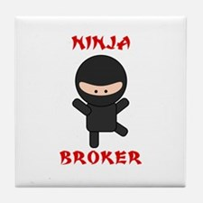 Ninja Broker Tile Coaster