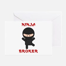 Ninja Broker Greeting Card