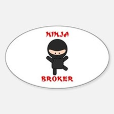 Ninja Broker Sticker (Oval)
