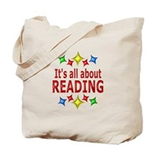 Shiny About Reading Tote Bag