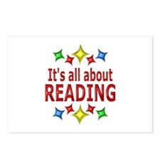 Shiny About Reading Postcards (Package of 8)