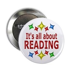 "Shiny About Reading 2.25"" Button (10 pack)"