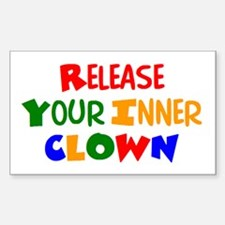inner clown Sticker (Rectangle)