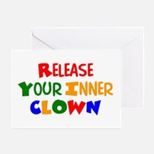 inner clown Greeting Card