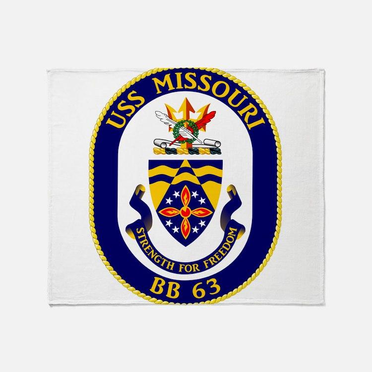 USS Missouri BB-63 Throw Blanket