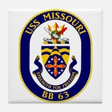 Uss Missouri Bb-63 Tile Coaster