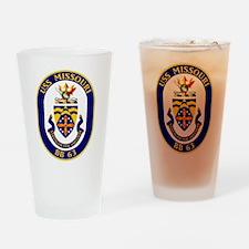 USS Missouri BB-63 Drinking Glass