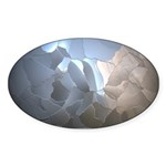 Cracked Pearl Sticker (Oval 50 pk)