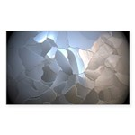 Cracked Pearl Sticker (Rectangle 50 pk)