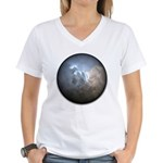 Cracked Pearl Women's V-Neck T-Shirt