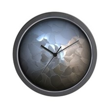 Cracked Pearl Wall Clock