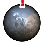 Cracked Pearl Round Ornament