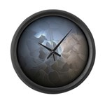 Cracked Pearl Large Wall Clock