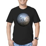 Cracked Pearl Men's Fitted T-Shirt (dark)
