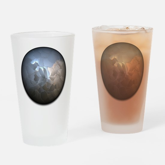 Cracked Pearl Drinking Glass
