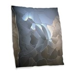 Cracked Pearl Burlap Throw Pillow