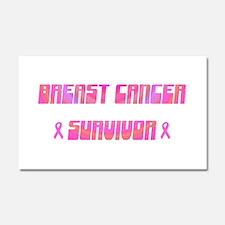 Groovy Breast Cancer Survivor Car Magnet 20 x 12