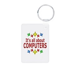 Shiny About Computers Aluminum Photo Keychain