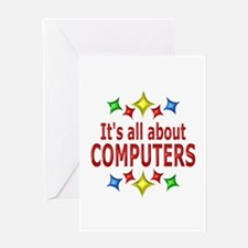 Shiny About Computers Greeting Card