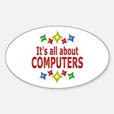 Shiny About Computers Sticker (Oval)