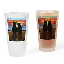 Cat 340 Drinking Glass