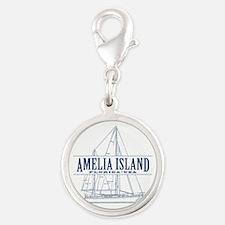 Amelia Island - Silver Round Charm