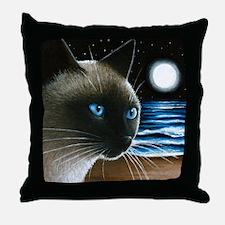 cat 396 siamese Throw Pillow