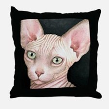 Cat 412 sphynx Throw Pillow