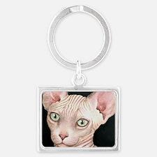 Cat 412 sphynx Landscape Keychain