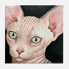 Cat 412 sphynx Tile Coaster