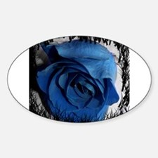 blue rose faded border pretty flower plant Decal
