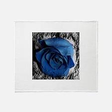 blue rose faded border pretty flower plant Throw B