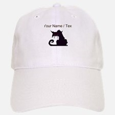 Custom Angry Black Cat Baseball Baseball Baseball Cap