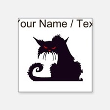 Custom Angry Black Cat Sticker